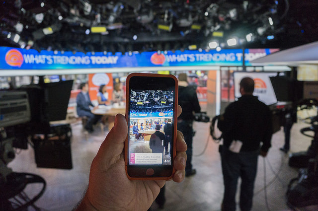 Using Periscope During The TODAY Show. Photo by Anthony Quintano